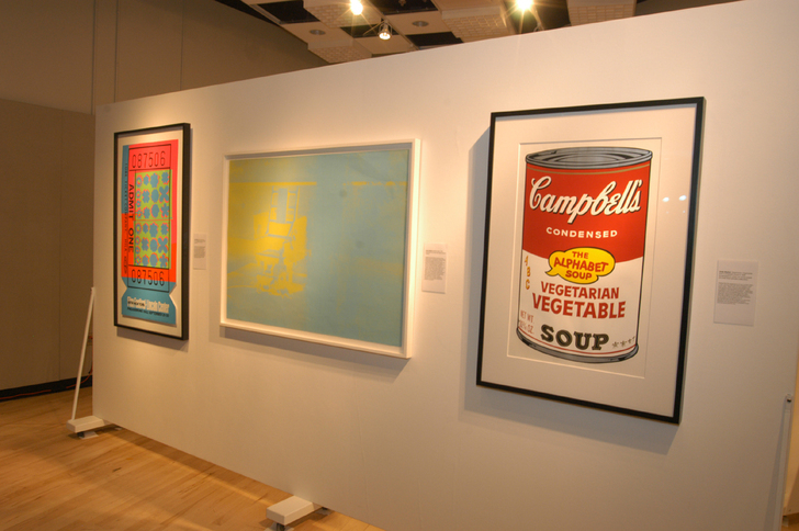 Warhol artwork on display